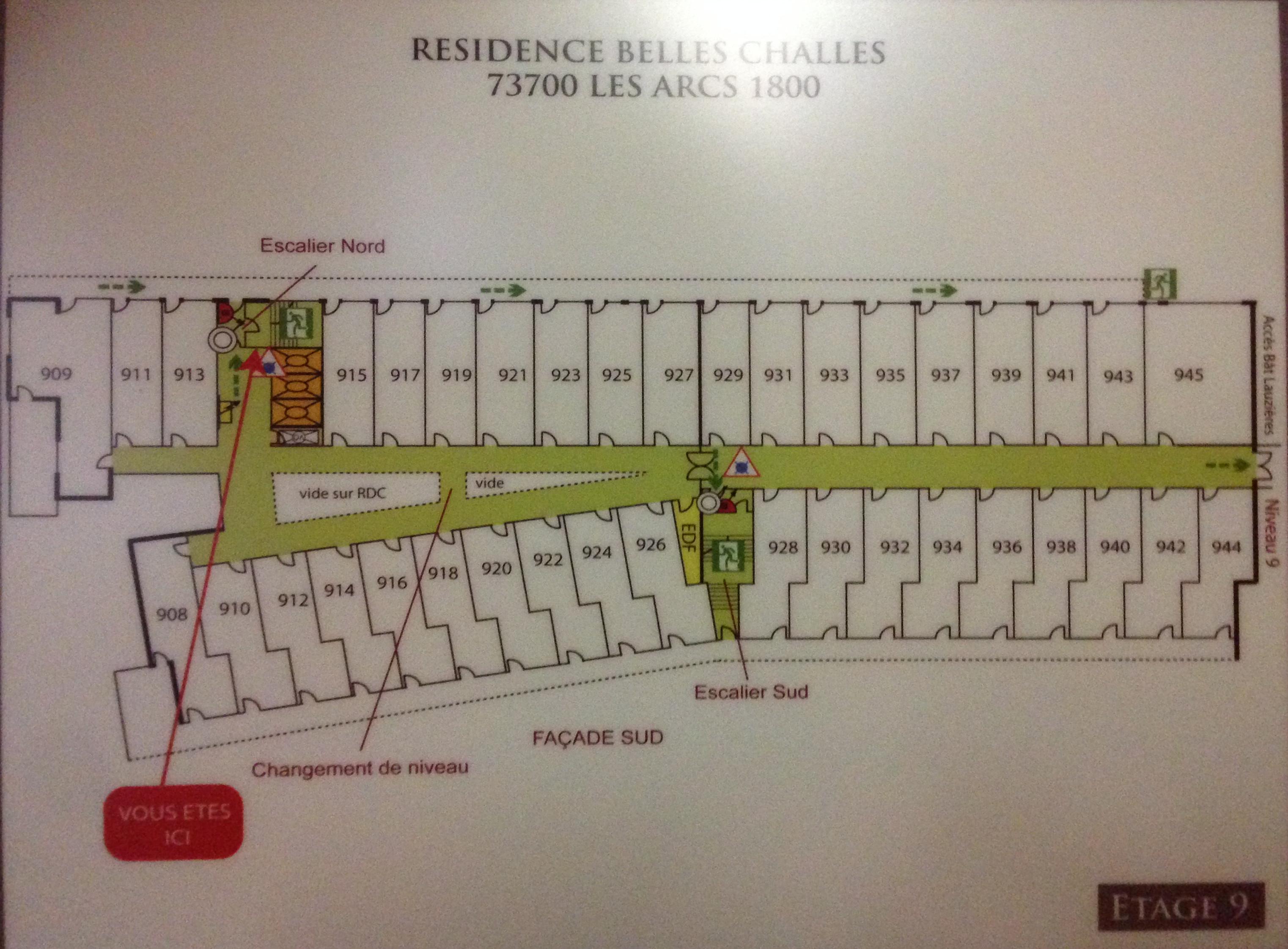 Plans Des R 233 Sidences Les Arcs 1800 Location De Vacances