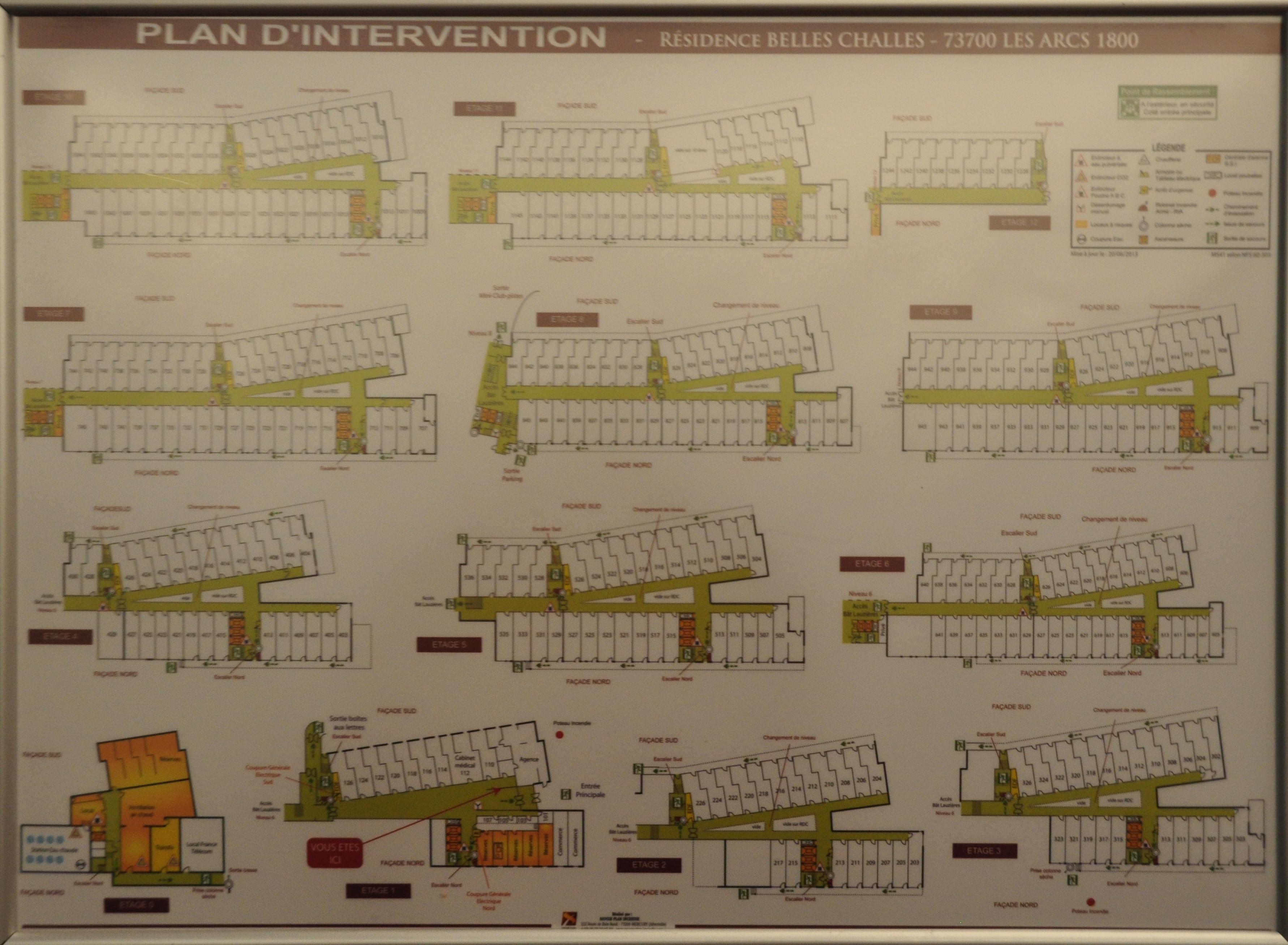 Plans Des R 233 Sidences Les Arcs 1800 Location De Vacances Les Arcs 1800